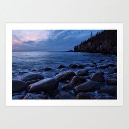 Acadia National Park, Boulder Beach. Art Print