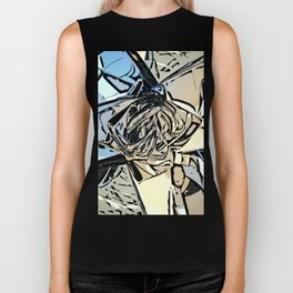 Halftones Abstract Biker Tank