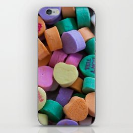 Conversation Hearts iPhone Skin