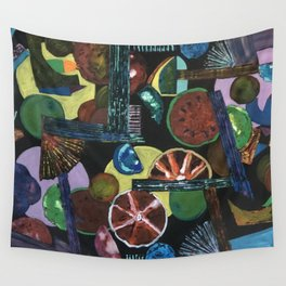 Abstract Fruits Wall Tapestry