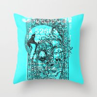 swan Throw Pillows featuring Swan by Tshirt-Factory