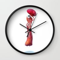 meat Wall Clocks featuring Meat by tkaracan