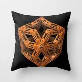 The Wood Carver Throw Pillow