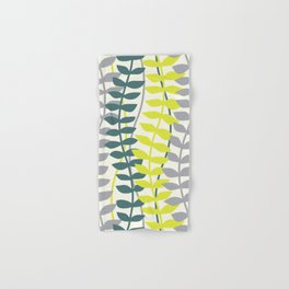 seagrass pattern - teal and lime Hand & Bath Towel