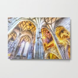 St Stephens Cathedral Vienna Art Metal Print