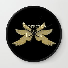 Protected by Lucifer Light Wall Clock