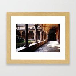 Old monastery Framed Art Print
