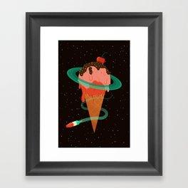 Ice Cream Planet Framed Art Print