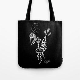 Dead Bird - White on Black Tote Bag