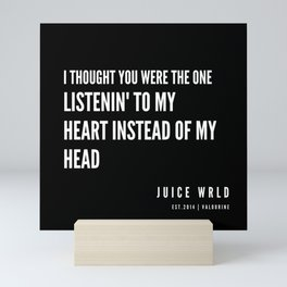 1   Juice WRLD Quotes   190608 Mini Art Print