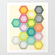Honeycomb Layers Art Print