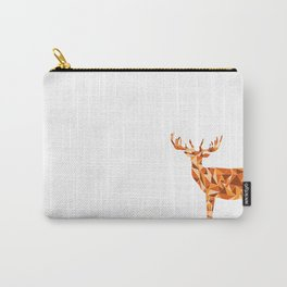 Stag - King of the Forest Geometric Digital Print Carry-All Pouch