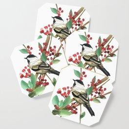 Berry Nice Chickadee Coaster