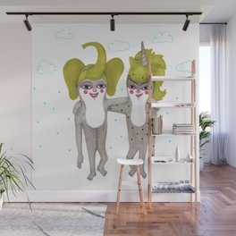 friends with costumes Wall Mural