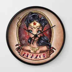 Amazon Pinup Wall Clock