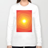 gradient Long Sleeve T-shirts featuring Gradient Sun by Fimbis