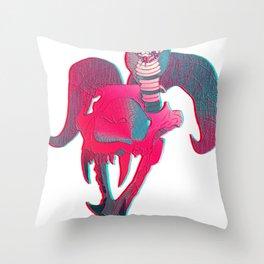 Chimera Skull Throw Pillow