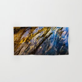 River Ripples in Copper Gold Blue and Brown Hand & Bath Towel