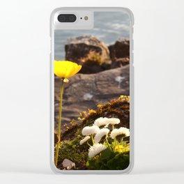 Lakeside Flowers II Clear iPhone Case