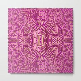 Radiate (Yellow/Ochre Raspberry) Metal Print