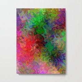 Explosive Abstract Metal Print