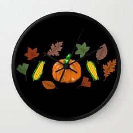 Fall #6 Wall Clock