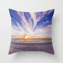 Semaphore Beach Throw Pillow