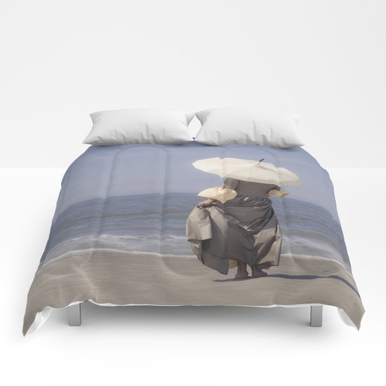 White Parasol II Comforters
