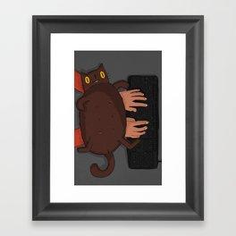 My Cat - Keyboard love Framed Art Print
