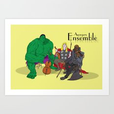 Avengers Ensemble  Art Print