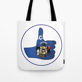 Thumbs Up Wisconsin Tote Bag