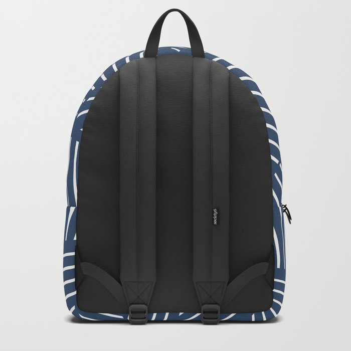 Abstraction Linear Zoom Navy Backpack