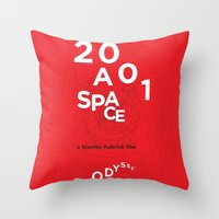 2001 a space odyssey Throw Pillows featuring 2001: a space odyssey by Rodrigo Müller