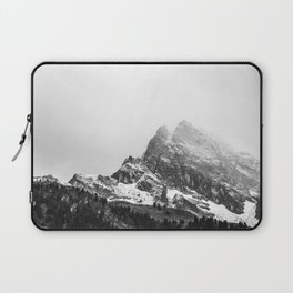 Black and White Snowy Mountain Laptop Sleeve