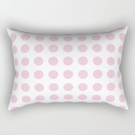 Simply Polka Dots in Blush Pink Rectangular Pillow