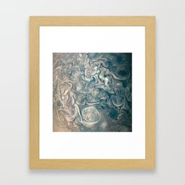 Jupiter Stormy Weather Watercolor Texture Framed Art Print