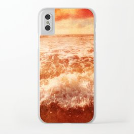 Rushing In Clear iPhone Case