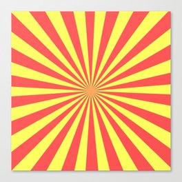 Starburst (Red & Yellow Pattern) Canvas Print