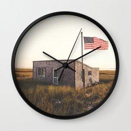 Avant poste flag beach Wall Clock