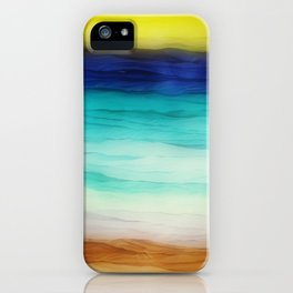 beach abstract iPhone Case