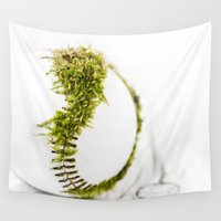 dragon ball Wall Tapestries featuring Dragon Moss ball baseball by Surface Maximus