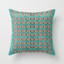 lotus bloom in the sacred soft warm sea Throw Pillow