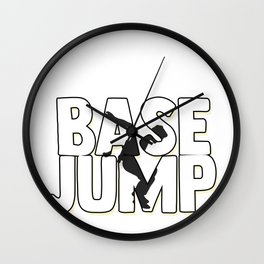 Base Jump Jumping Sky Diving Parachuting Fly Gift  Wall Clock