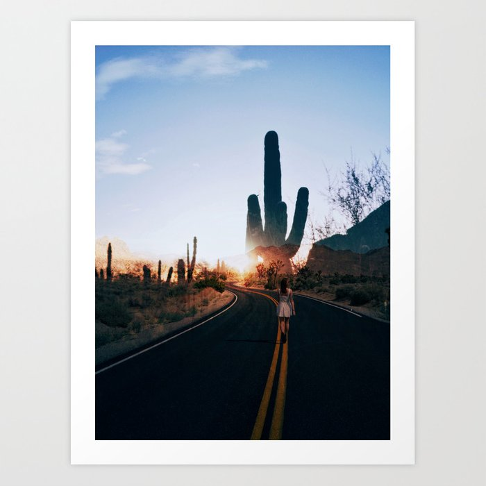Disappear Into The Sunset Art Print