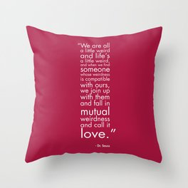 Mutual Weirdness Throw Pillow