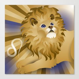 leo ZodiaCat Canvas Print