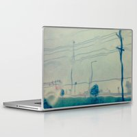 kansas city Laptop & iPad Skins featuring Kansas City Rain by Jason Simms