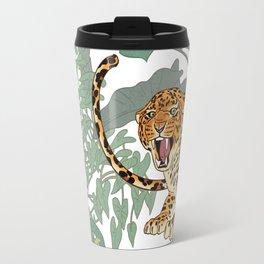 Leopards in the jungle pattern. Travel Mug