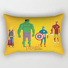 Super Heroes - Pixel Nostalgia Rectangular Pillow