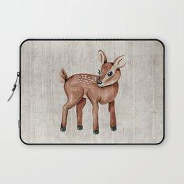 Little Fawn, Baby Deer, Forest Animals, Woodland Nursery, Baby Animals Laptop Sleeve